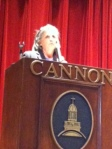 During Monday's community meeting, Counselor Anne Shandley discusses the importance of planning ahead .