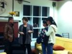 Mrs. Pinto welcomes Tian Li group.