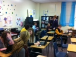 Mrs. Hines' math class gets ready for a fabulous lesson.