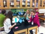 Mr.Booker's Biology class works on diversity presentation.