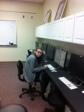 Joanna works diligently in Mr. Jean's class.
