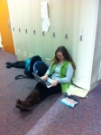 Quiet halls lend themselves to studying.