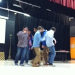 Students played a good ol' fashioned game of musical chairs with a twist.