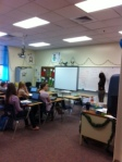 Mrs. Hine teaches a great math lesson.