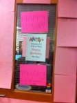 Mrs. Otey's office door was decorated in honor of her birthday.