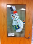 "The caption below Mrs. Stavrakis' snowman read "" Families are like puzzles. They fit together in a certain way, and if one piece is missing, it throws everything off.""- Richard Schiff"