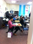 Students enjoy Ms. Hine's math class.