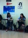Students work on their Frankenstein Study guides.