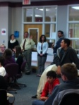 Seniors give updates on Capstone ideas.