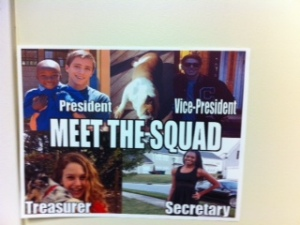 Students are beginning to campaign for Student Council elections.