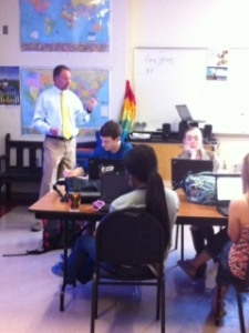 Mr. Coggins keeps the interest of his students .