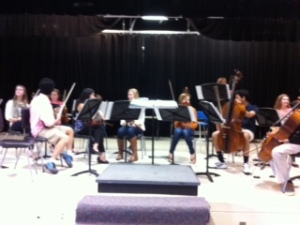 A wonderful performance by our strings musicians during community meeting Thursday.