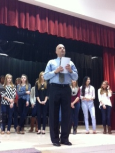 Mr. Burlington led the choir during Community meeting.