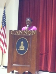 Aijja delivered a powerful speech about Mandela last week.