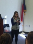 Ms Gray introduced the leadership lunch speaker on Friday.