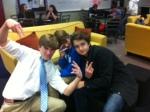Freshmen strike a pose.