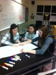 Spanish students work on project .