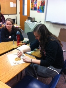 Stats students count the number of chocolate chips in cookies.