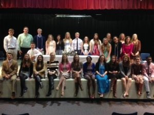 Rho Kappa National Social Studies Honor Society Induction on Thursday was a success. Congratulations.
