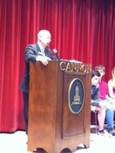 Mr. Booker announces Honor Council candidates.
