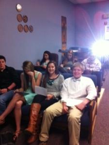 sophomores utilize the movie room to watch Gattaca.