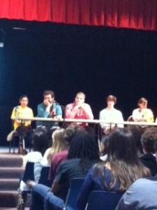 Quiz bowl competitors.