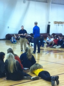 Seniors learned how to defend themselves.