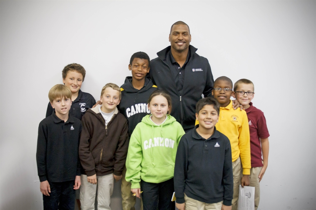 Mike Rucker with Cannon Students