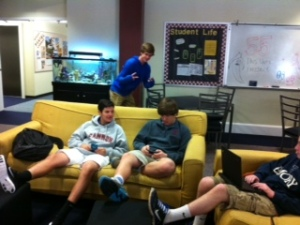 The Commons are a great place for freshmen to gather.