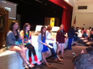 Prom Committee gets ready to deliver Prom tickets.