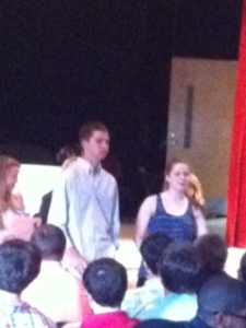 Seniors from S.A.D.D remind students to stay safe on prom night.
