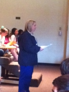 Ms. Eury lovingly explains the logistics of Prom night and how to remain safe.