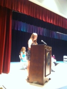 Juliana starts the Cum Laude ceremony off with a bang.