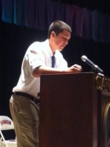 Wonderful introduction speeches in honor of Cum Laude.