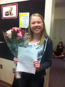 A happy prom acceptance.