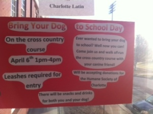 Bring your dog to school this Friday.