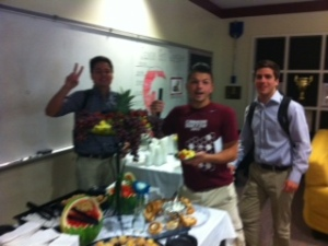 Students enjoyed the refreshments and snacks between Capstone presentations.