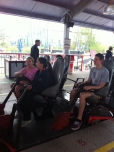 Seniors survived the frightening coasters at the amusement park,