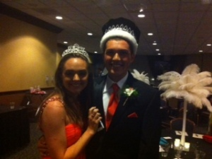 Prom King and Queen.
