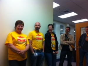 Admin wear their t-shirts to support amazing project.