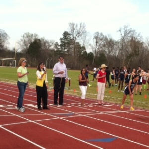 Thank you parents for volunteering to time at last nights track meet.