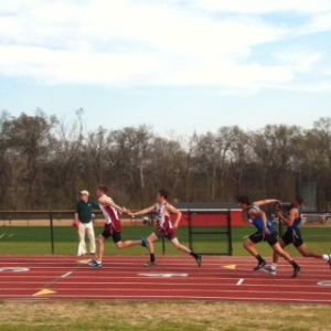 Great passing makes for a great relay team.