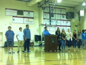 Student council for next year was welcomed !