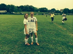 Congratulations to JV players Paige and Taylor for their goals in the game Monday.
