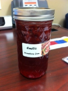 Wonderful  homemade jam from Liz and Emily.