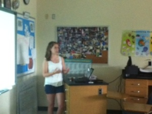 Hannah talks to Biology class about 3D imaging.  Fascinating.