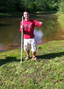 Caught a fish on campus!