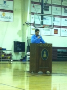 President Barrone led his first fabulous community meeting. Well done.