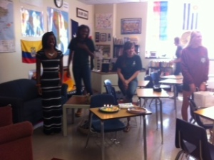 Surprise party for advisor... wahoo.