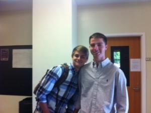 Feeling the love between Senior and Freshman.